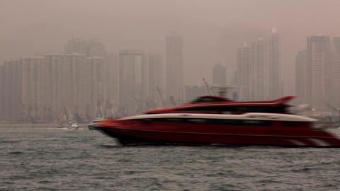 Sea Traffic on a Foggy Morning Stock Video Footage