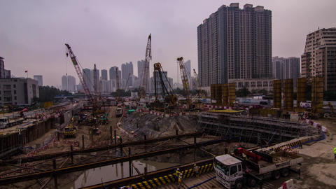 Construction site operating Stock Video Footage