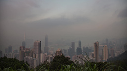 Hong Kong Day to Night at The Peak Footage