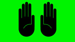 GRAPHICAL HANDS Stock Video Footage