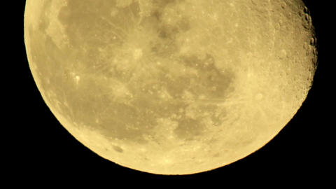 moon on the night the dark sky Footage