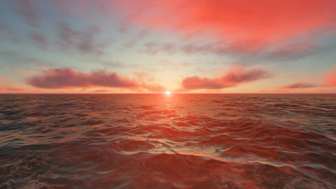 Ocean Sunset Animation