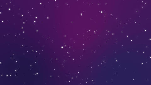 Magical sparkly particles flickering on a purple blue background Animation