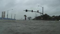 Typhoon storm surge Footage