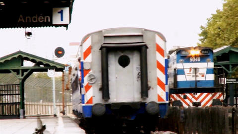 Old Trains Of Buenos Aires Footage