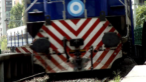 Train in Buenos Aires Full Speed Footage