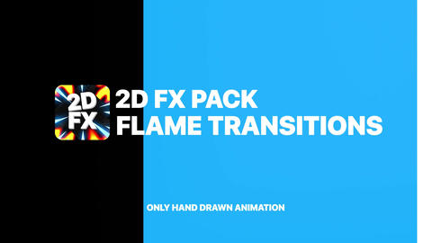 Flame Transitions After Effects Template