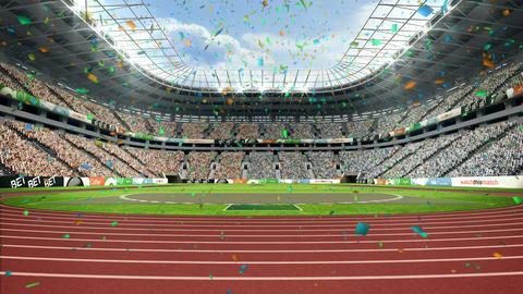 Confetti falling on stadium Footage