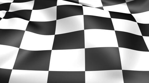 Checkered race flag. Seamless looped video background, footage Animation