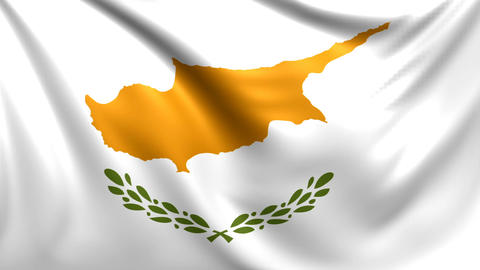 Flag of Cyprus. Seamless looped video, footage Animation