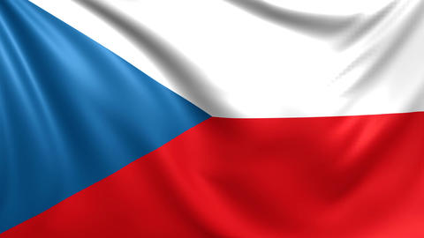 Flag of Czech Republic. Seamless looped video, footage Animation