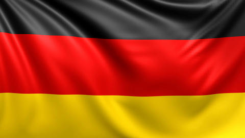 Flag of Germany. Seamless looped video, footage Animation