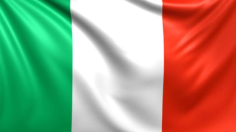 Flag of Ireland. Seamless looped video, footage Animation