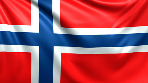 Flag of Norway. Seamless looped video, footage Animation