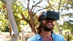 Man using virtual glasses Footage