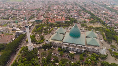 Mosque Al Akbar in Surabaya Indonesia Live Action