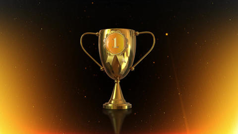 3D background 3D Trophy Gold Award Animation