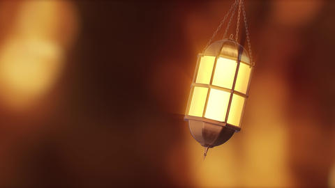 3D background Hanging Lantern With Bokeh background 2 Animation