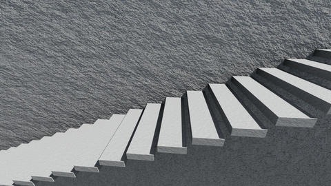 Stairs And Shade With Cement Wall 3 Animation