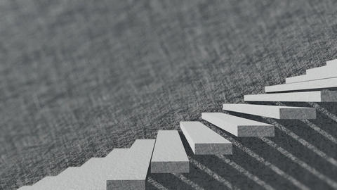 Stairs And Shade With Cement Wall 4 Animation