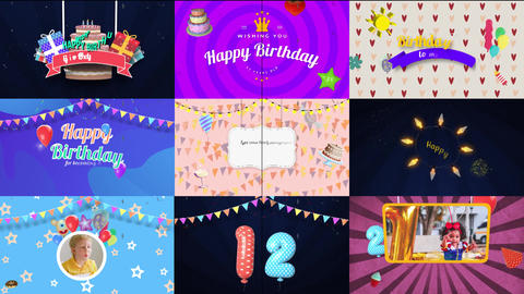 Happy Birthday Pack After Effects Template