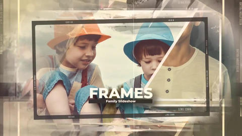 Family Frames Slideshow - Kids Memories Slides After Effects Template