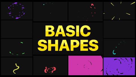 Basic Shapes Pack Apple Motion Template