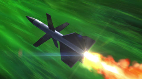 SHA Missile Fire Image Green Animation