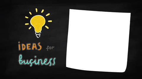 Business ideas concept animation Footage