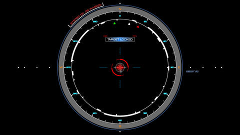 HUD Circle Spin Target Interface animation CG動画素材