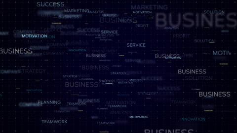 Business words concept - loop background Animation
