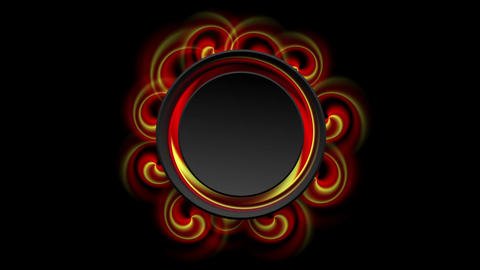 Red and yellow swirl shapes video animation Animation
