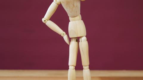 Depressed figurine standing Footage