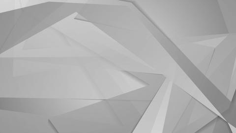 Polygonal grey shapes geometric video clip Animation