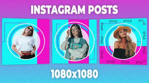 Instagram Posts After Effects Template