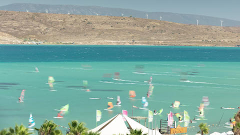 Wind Surf in Turkey Alacati Surf Paradise time lapse Live Action