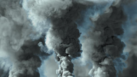 bright abstract background of dense smoke, air pollution concept Animation