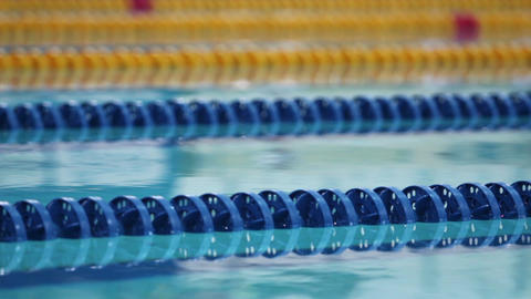 blue swimming lane marker Footage