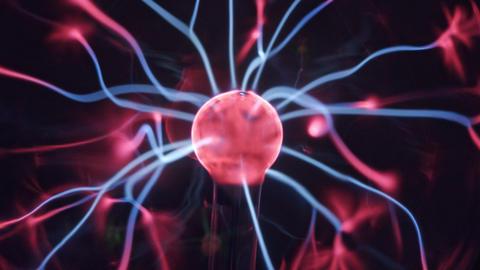 plasma ball nicola tesla. abstract image of coronavirus Live Action