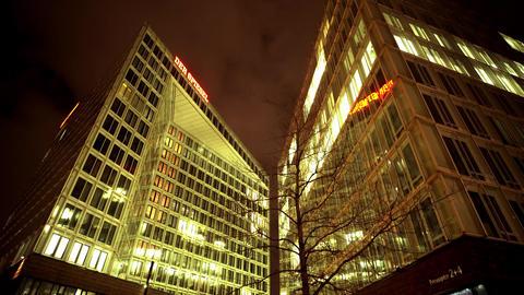 Spiegel news magazine building in Hamburg Live Action