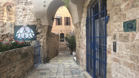 Tel Aviv, Israel - October 22, 2019: historic part of the city part 6 Live Action