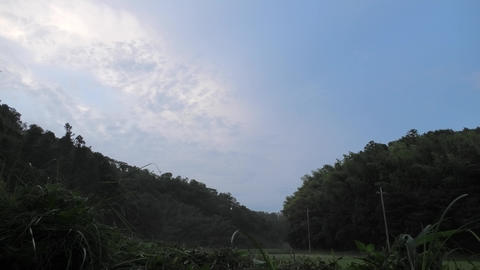 Mountains and sky in the Japanese countryside Live Action