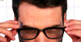 Close-up of businessman wearing spectacle Live Action