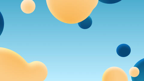 Modern gradient circle shape liquid motion background.Colorful shape movement animation Animation