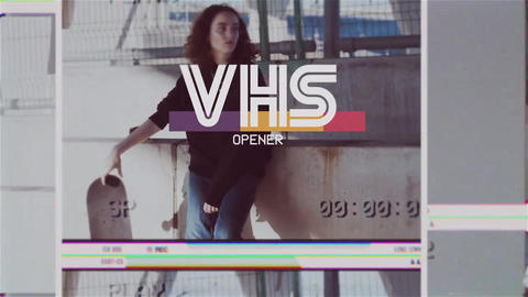 VHS Retro Glitch Opener - Vintage Slideshow After Effect After Effects Template