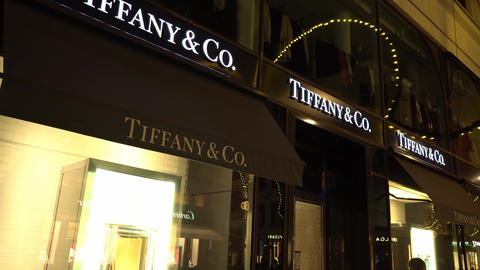 Famous Tiffany and Co store in Hamburg Live Action