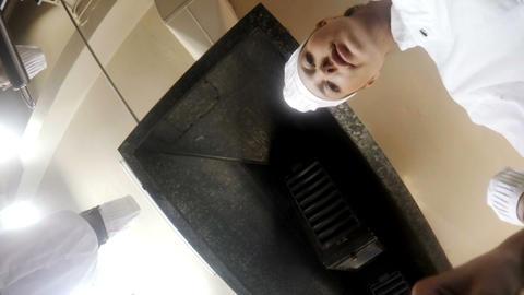 Female chef preparing food Live Action