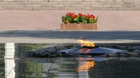 Eternal Flame Almaty Central Park 4K Footage