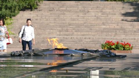 Eternal Flame People 4K Footage
