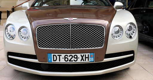 Bentley Flying Spur Closeup View Live Action